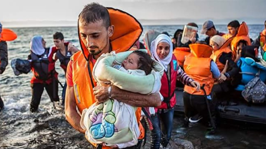 Refugees in Lesvos, Greece with YWAM alongside Euro Relief